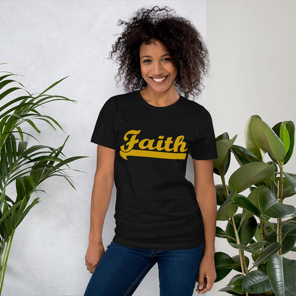 Bold Faith Short-Sleeve Unisex T-Shirt - Ladies