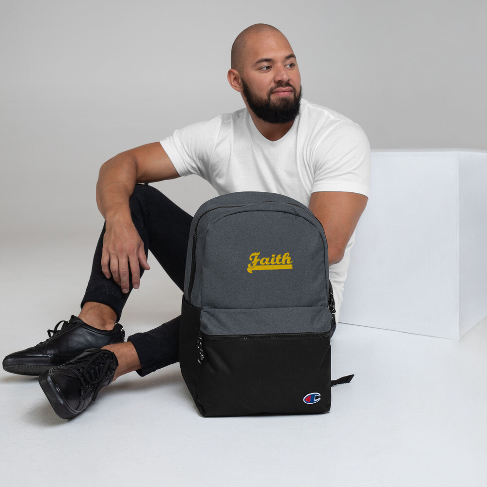 Bold Faith - Embroidered Champion Backpack - Unisex