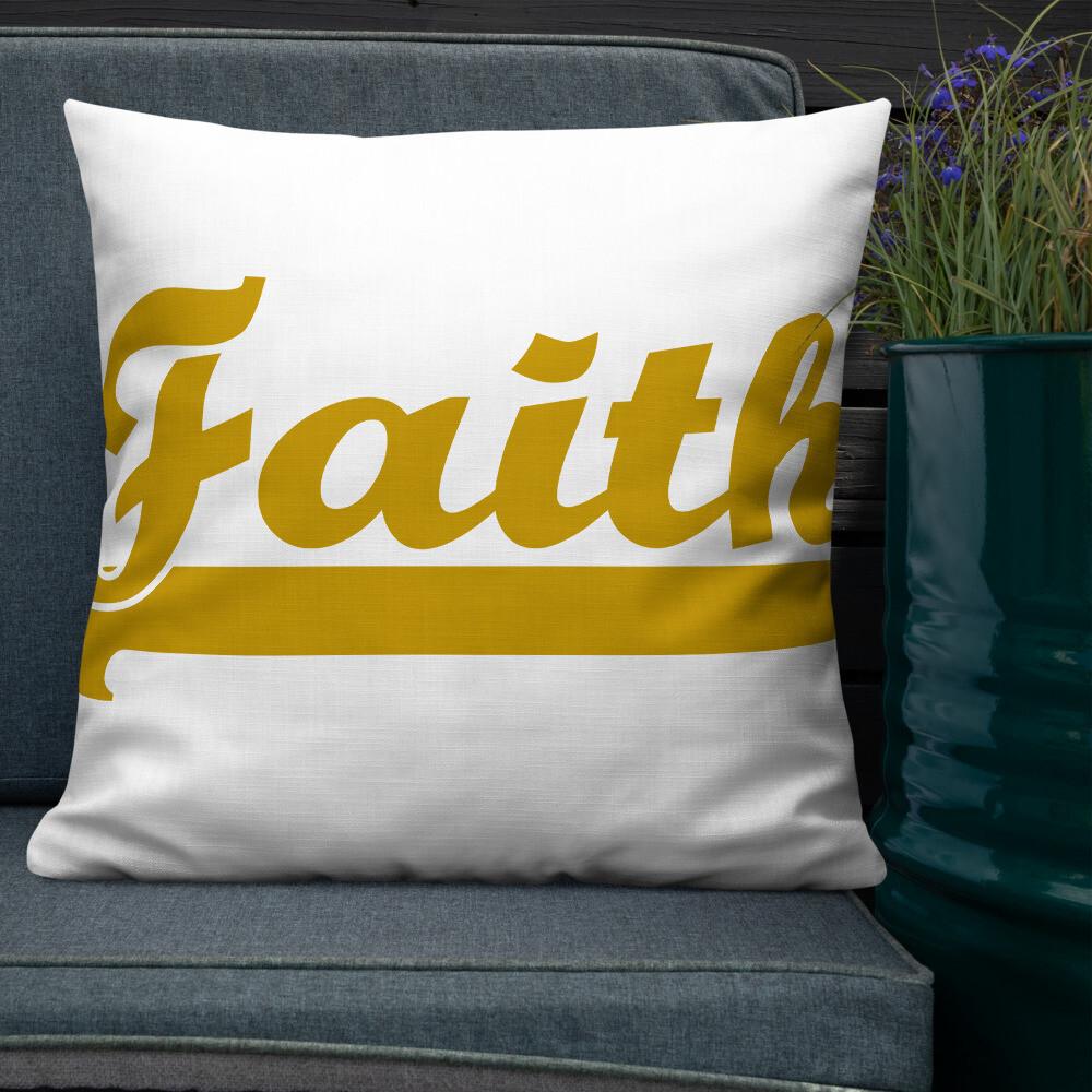 Bold Faith Premium Pillow - Unisex
