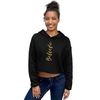 Believe Crop Hoodie - byHISdirection Apparel - Women's