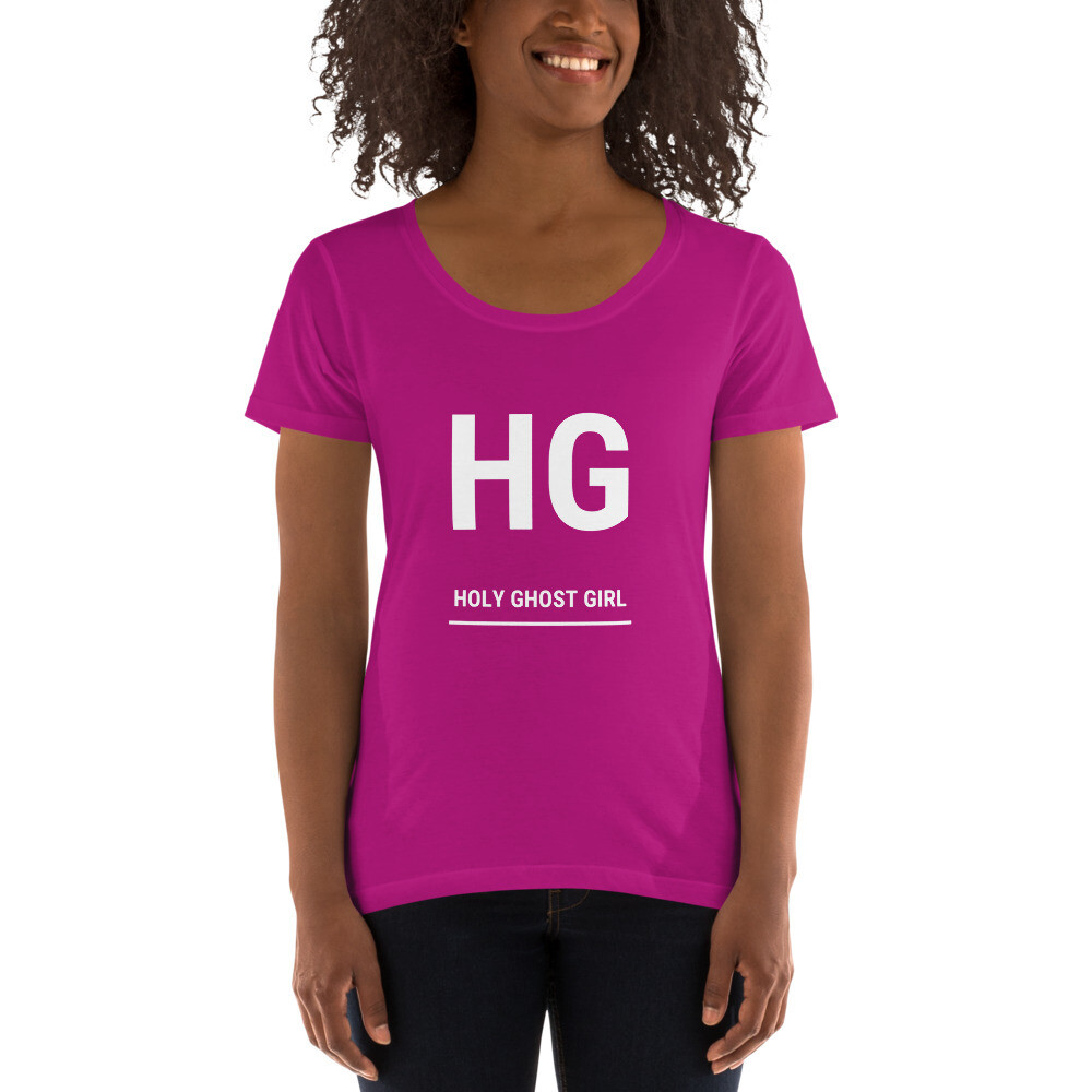 HG -  Ladies' Scoopneck T-Shirt - byHISdirection Apparel