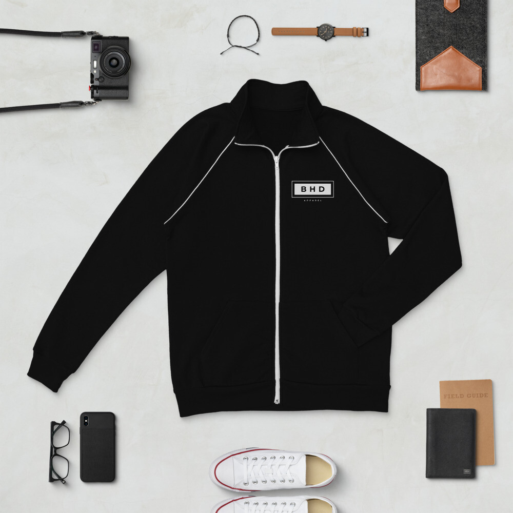 BHDA Focused - Piped Fleece Jacket - byHISdirection Apparel - Unisex
