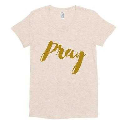 Pray - Women's Crew Neck T-shirt - byHISdirection Apparel