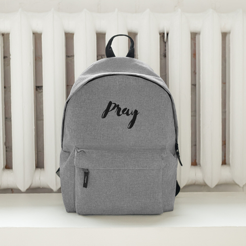Pray - Embroidered Backpack - byHISdirection Apparel - Unisex