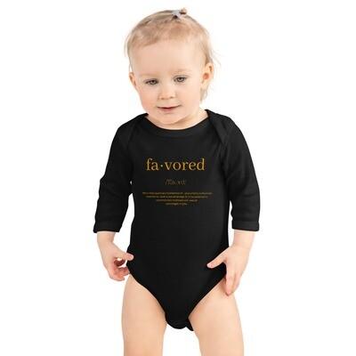Favored Infant Long Sleeve Bodysuit