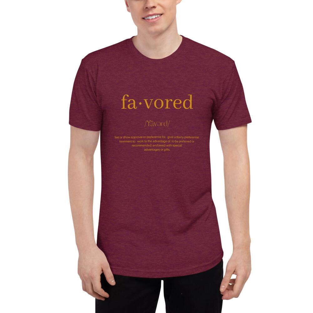 Favored - Unisex Tri-Blend Track Shirt
