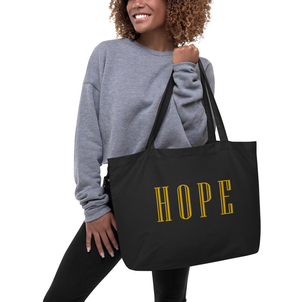 HOPE Large organic tote bag