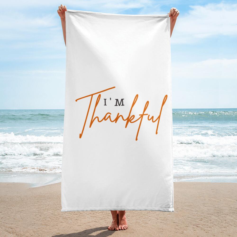 I'm Thankful Towel