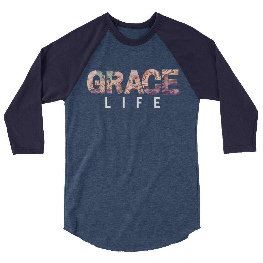 Ladies Grace Life 3/4 sleeve raglan shirt