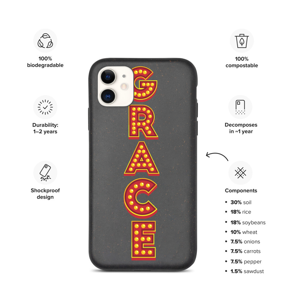 Grace Show Lights Biodegradable phone case