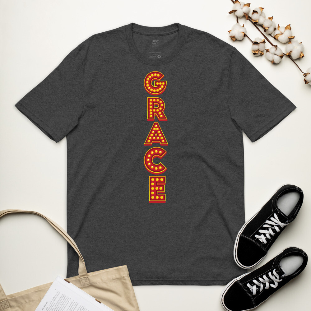 Grace Show Lights Unisex recycled t-shirt