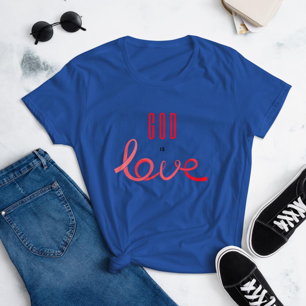 God is Love - Women's short sleeve t-shirt
