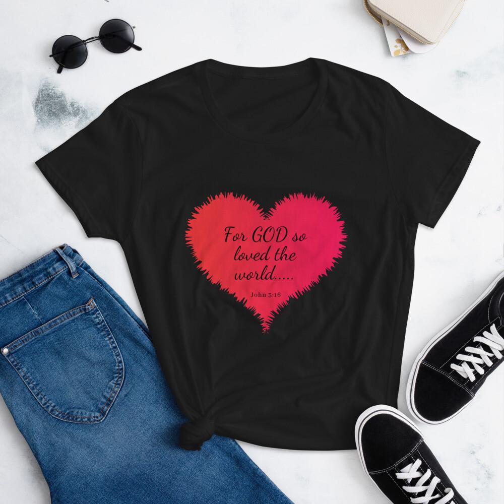God So Loved - Women's short sleeve t-shirt