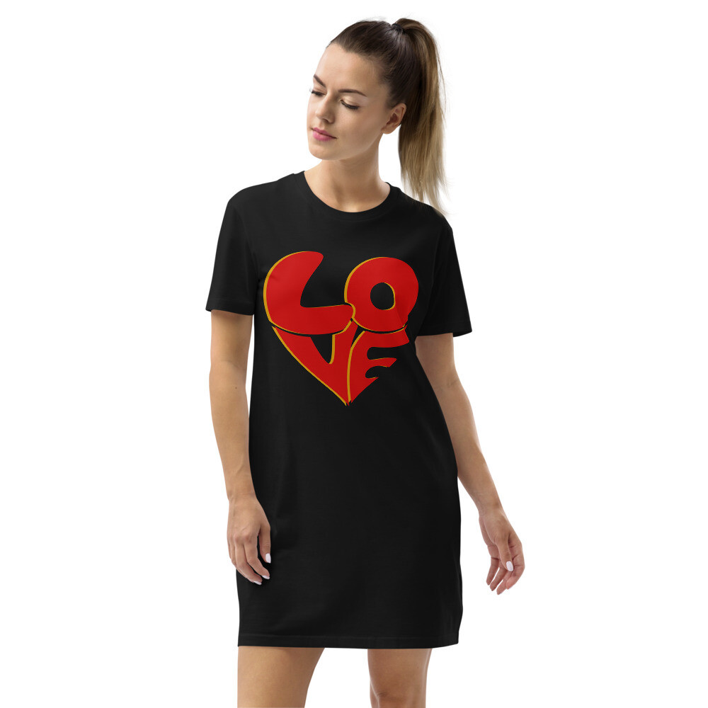 70's Love Organic cotton t-shirt dress