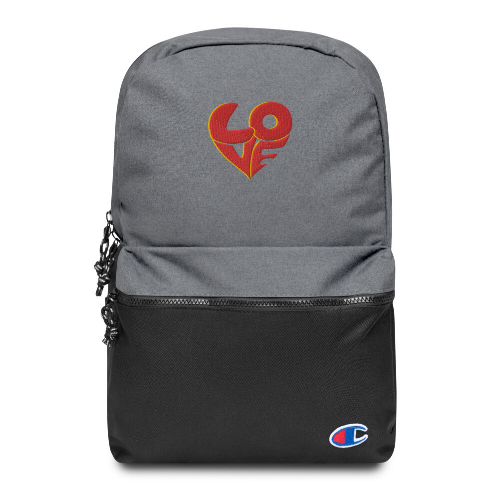 70's Love Embroidered Champion Backpack