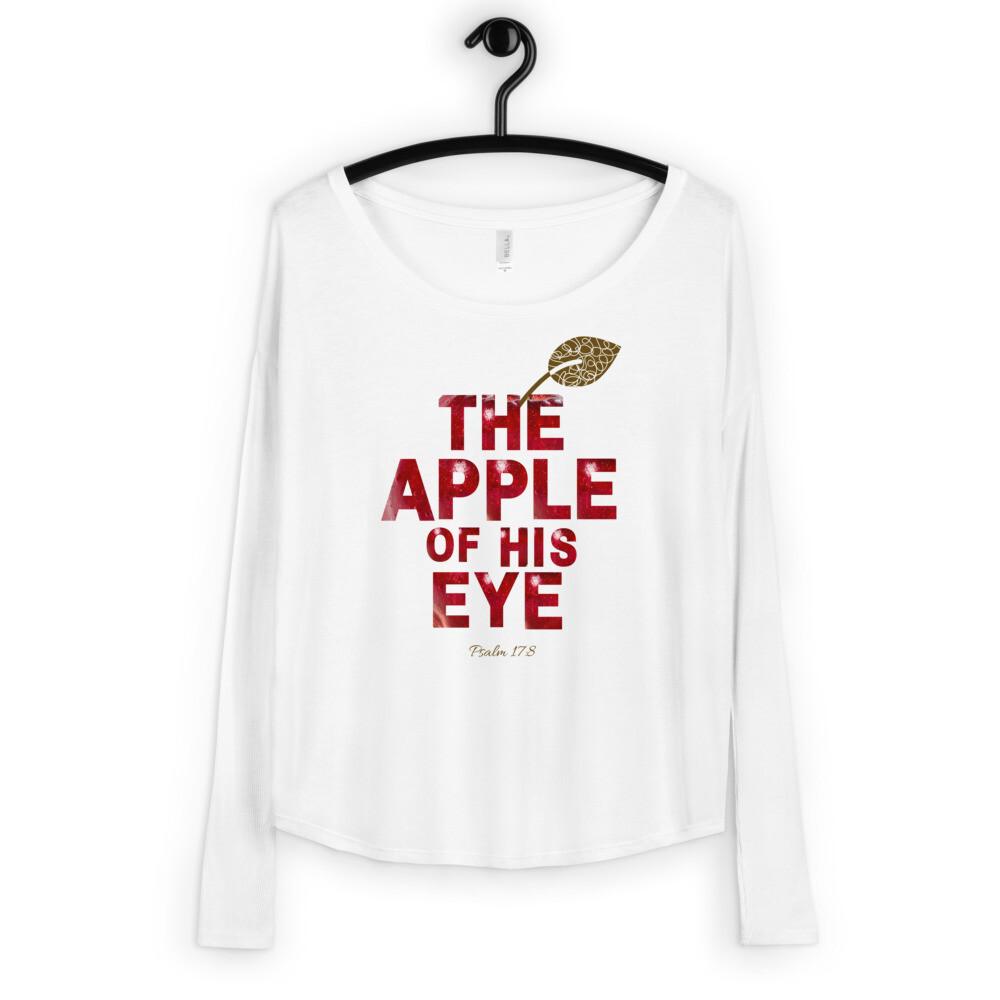 The Apple of HIS Eye Ladies' Long Sleeve Tee