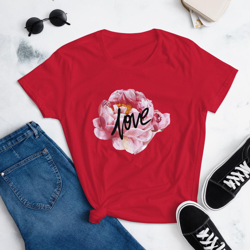 Love Flowers Women's short sleeve t-shirt