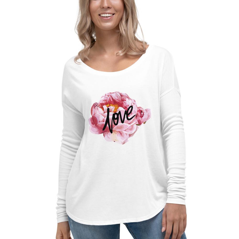 Love Flowers Ladies' Long Sleeve Tee