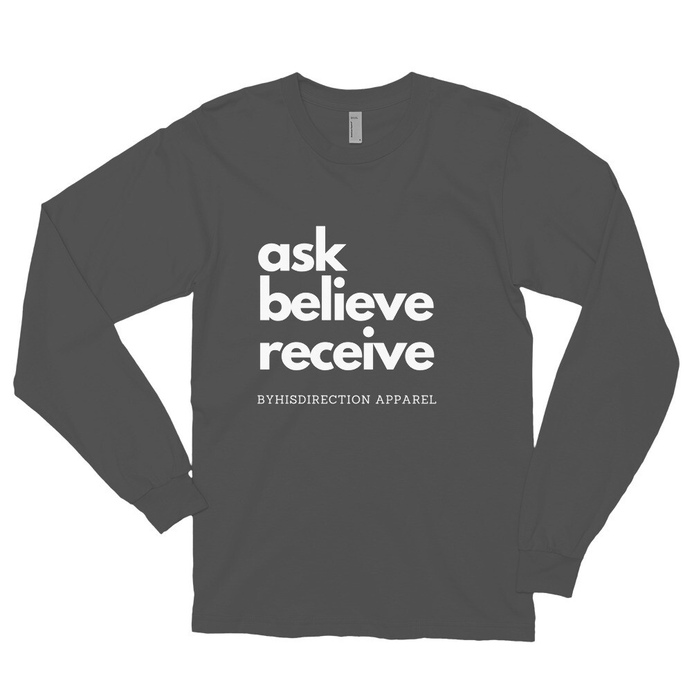 ask believe receive Long sleeve t-shirt