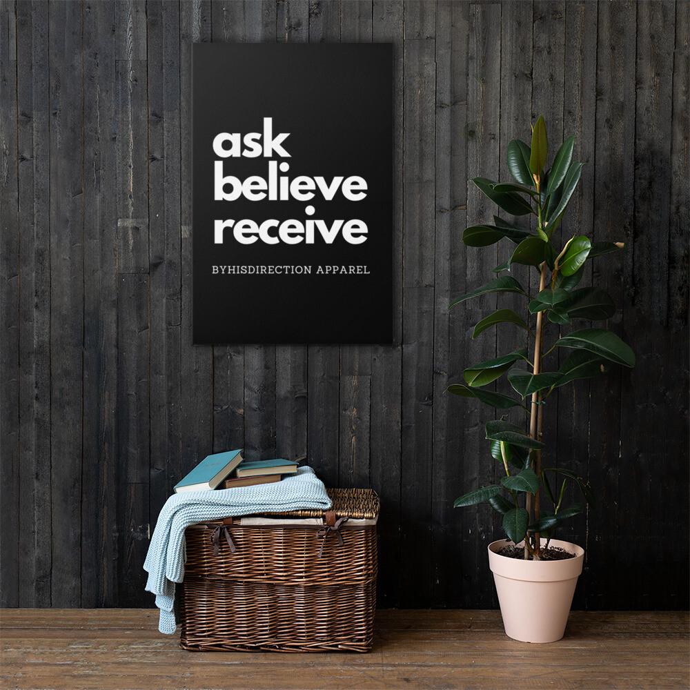 ask believe receive Canvas