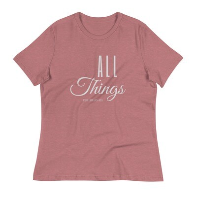 All Things Women's Relaxed T-Shirt - Grey