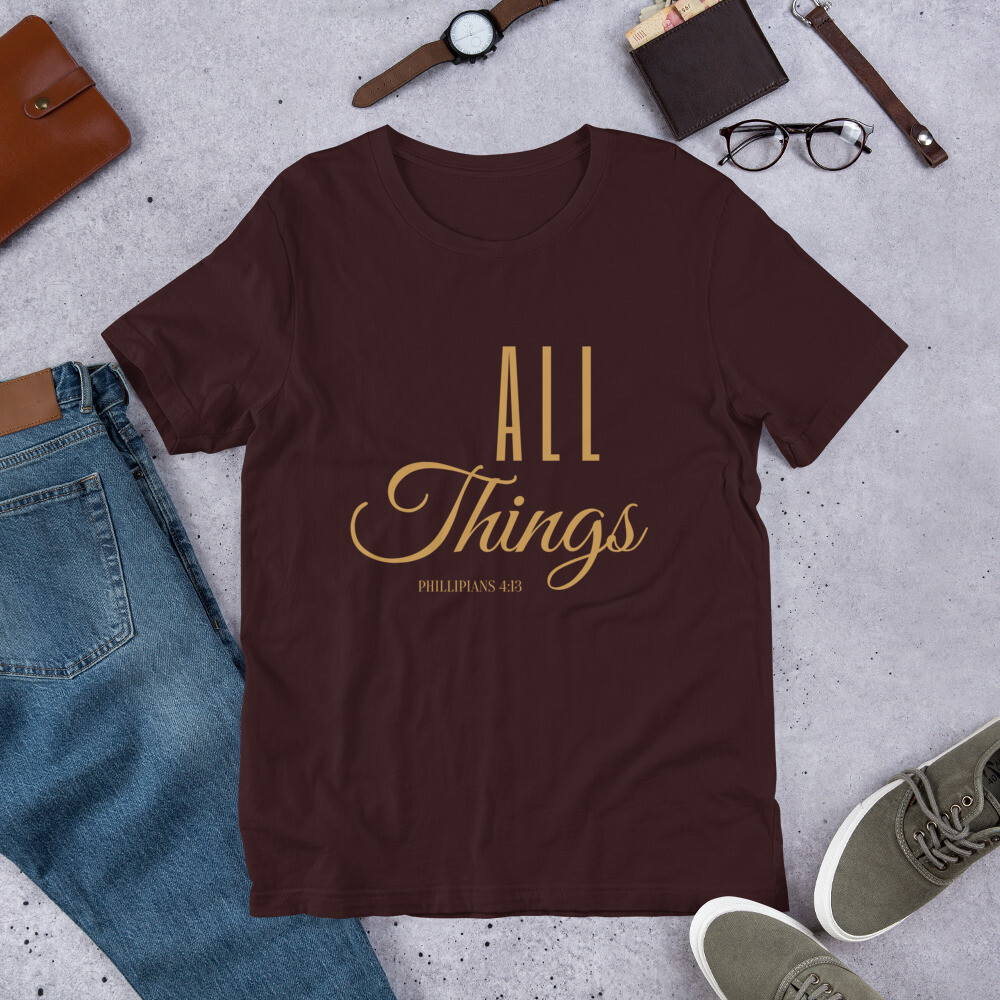 All Things Short-Sleeve Unisex T-Shirt - Gold