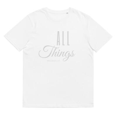 All Things organic cotton t-shirt Silver