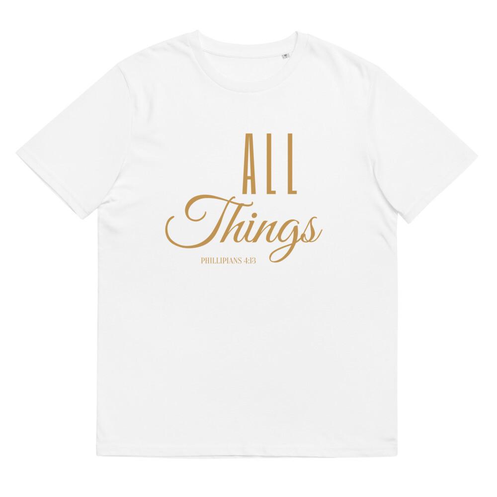 All Things Unisex organic cotton t-shirt - Gold