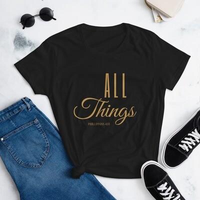 All Things Women's short sleeve t-shirt - Gold
