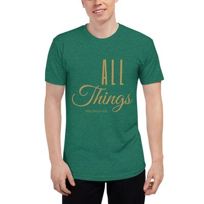 All Things Unisex Tri-Blend Track Shirt - Gold