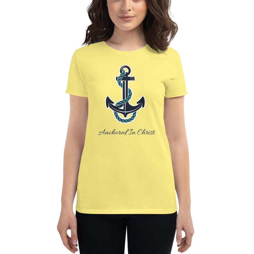 Anchored in Christ Women's short sleeve t-shirt