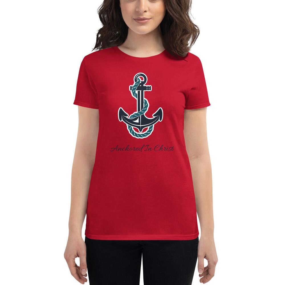 Anchored in Christ Women's short sleeve t-shirt 2