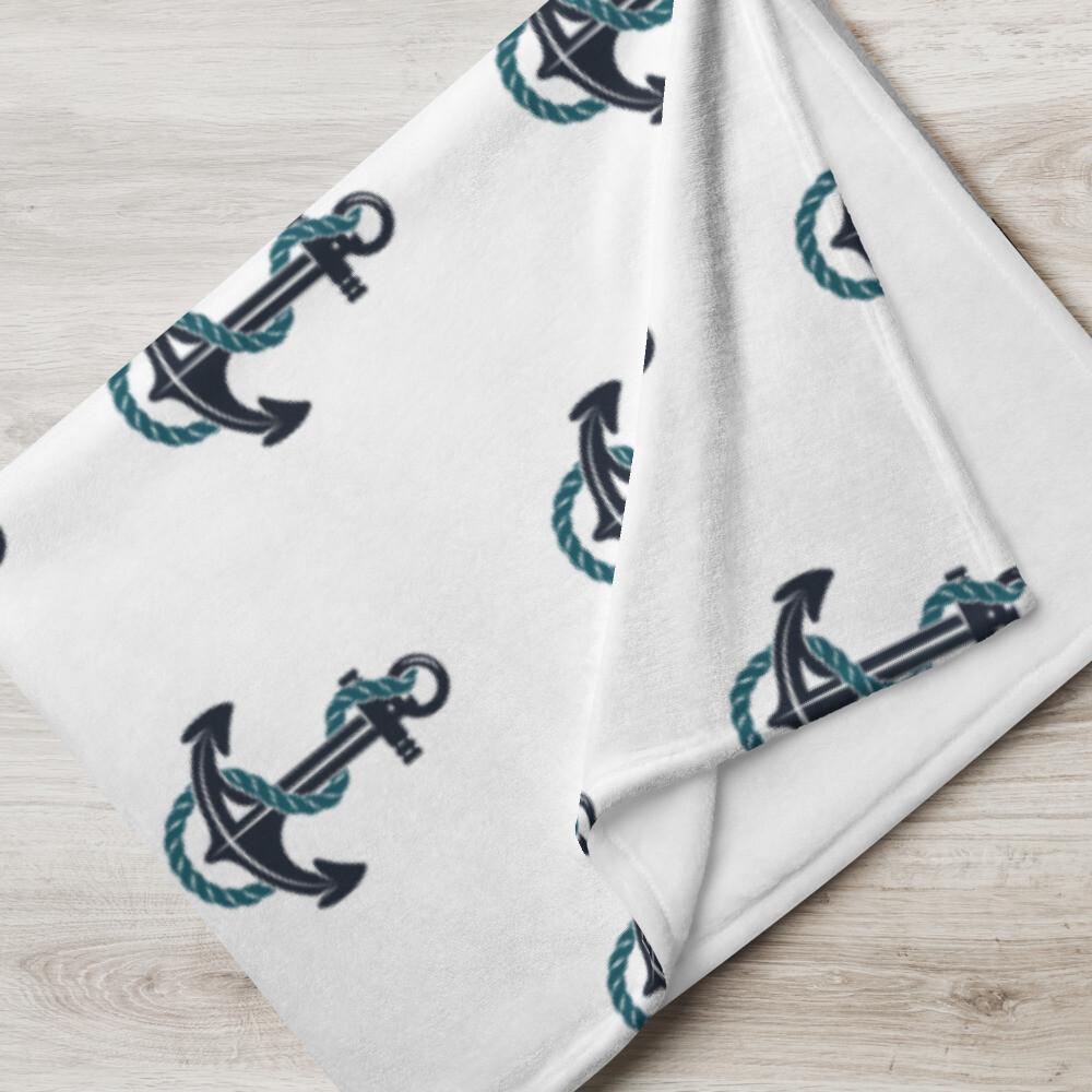 Anchored - Throw Blanket