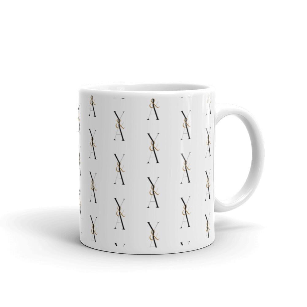 Yes & Amen White glossy mug