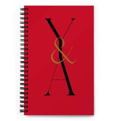 Yes & Amen Spiral notebook Red