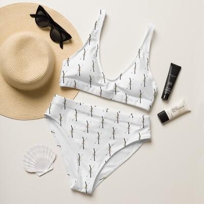 Yes & Amen Recycled high-waisted bikini