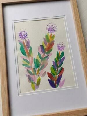 Original Melaleuca Watercolour -  6 x 8 in on cotton paper - Framed