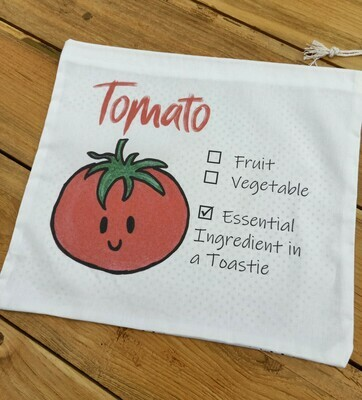 Tomato Produce Bag - Medium Size - Printed with Cutie Tomato Artwork
