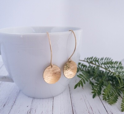 Yellow Gold Filled Large Circle Dangles
