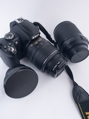Nikon D5000 DSLR Camera with 3 lenses (used condition)