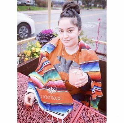 Cielo Rojo Custom Mexican Blanket