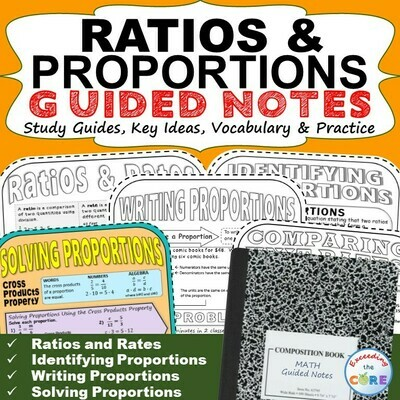 RATIOS and PROPORTIONS Doodle Math - Interactive Notebooks (Guided Notes)