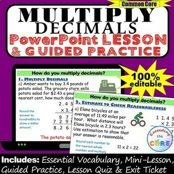 MULTIPLY DECIMALS PowerPoint Lesson & Guided Practice