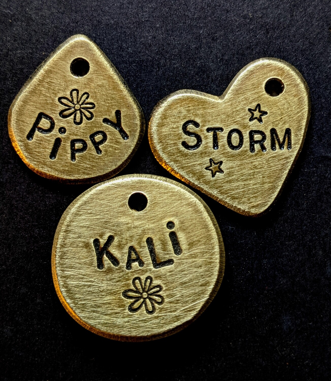 Classic Baby Brass Tags