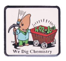 We Dig Chemistry Lapel Pin