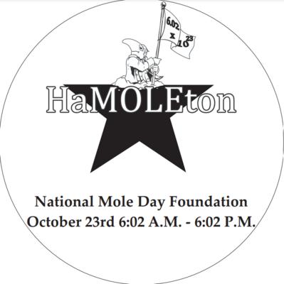 HaMOLEton Image in Black and White (coloring sheet)