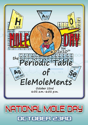 2016 Periodic Table of the EleMOLEMents Postcard