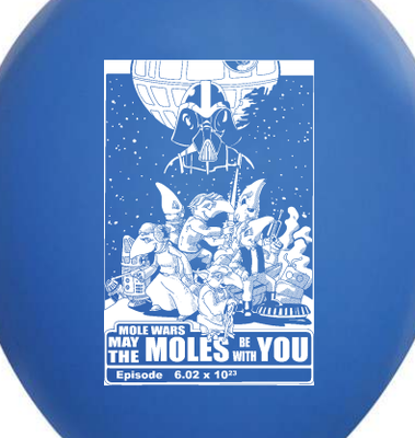2015 May the Moles Be With You Balloon