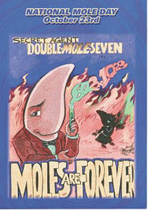 2007 Moles Are Forever Postcard
