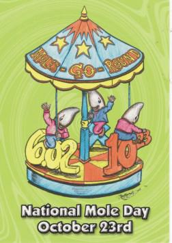 2005 Moles-Go-Round Postcard